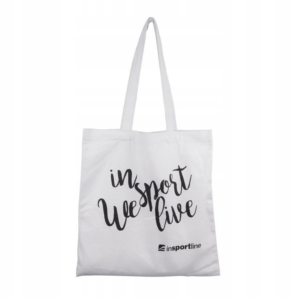 Płócienna torba inSPORTline Sportsa - Kolor Biały