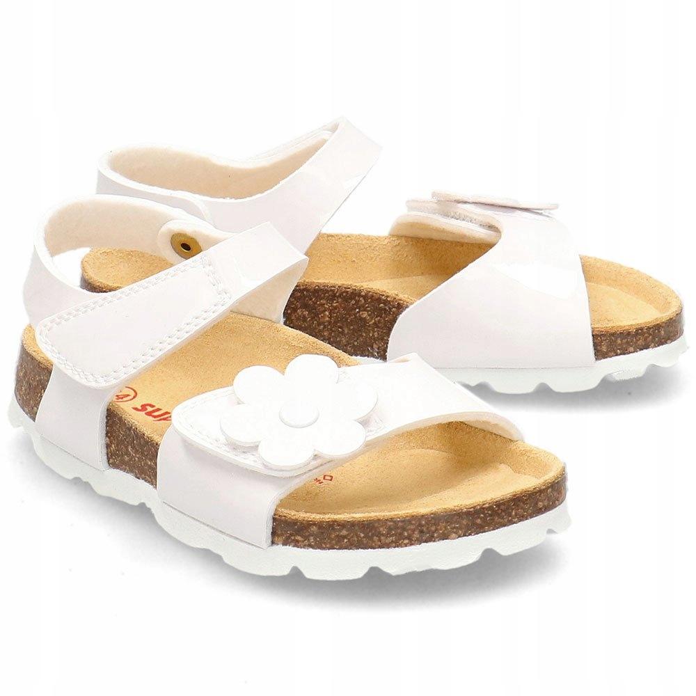 Superfit Białe Sandały Dziecięce Rzepy R.24