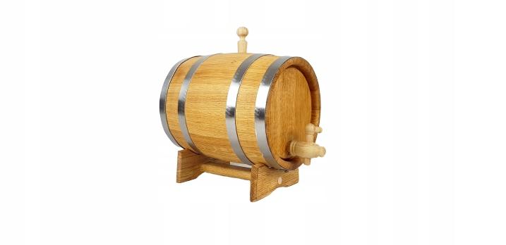 Beczka dębowa 3L na bimber whisky kranik drewniany