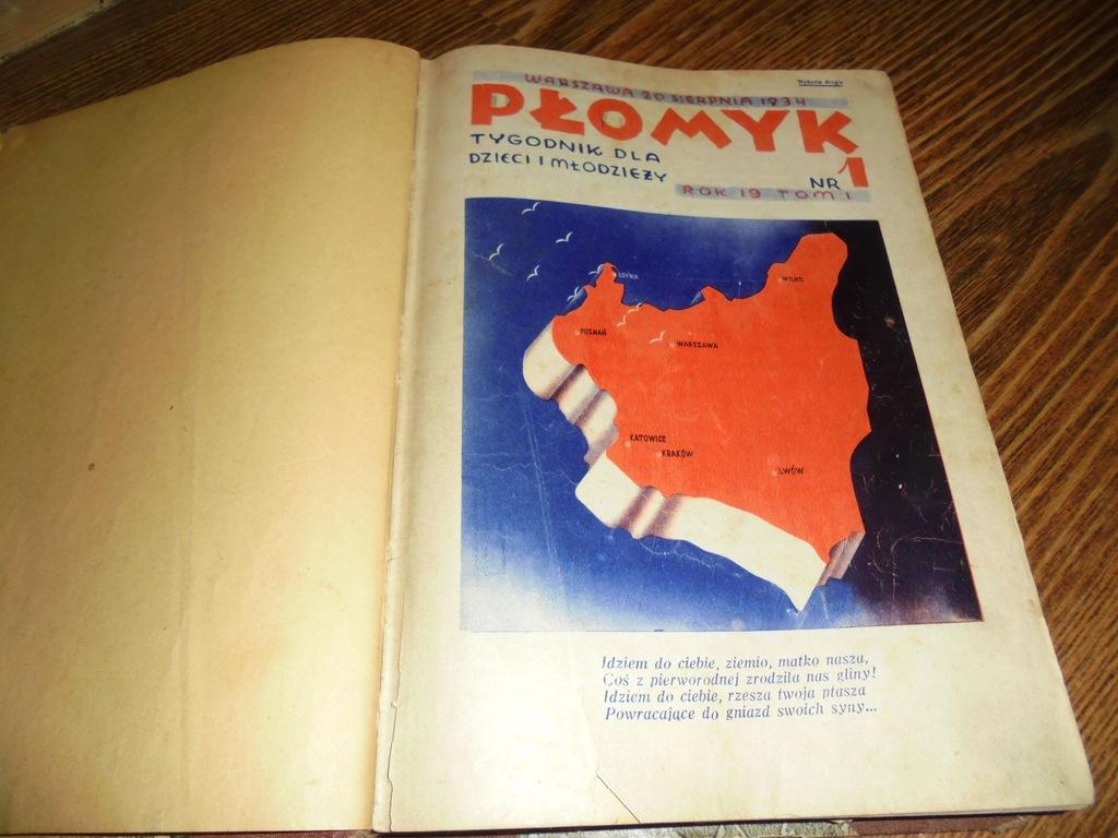 Płomyk. Oprawione 21 numerów z lat 1934-1935