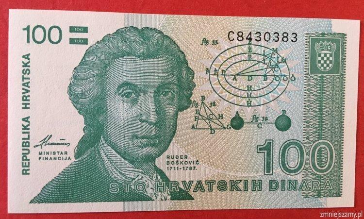 Chorwacja - 100 dinarów - stan bankowy - dla WOŚP