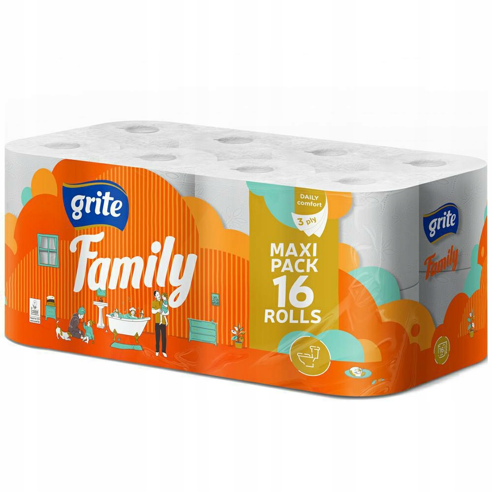 GRITE FAMILY Papier toaletowy 16 rolek (4)