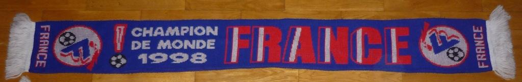 Szalik Francja - France- Mistrz Świata 1998 Zidane