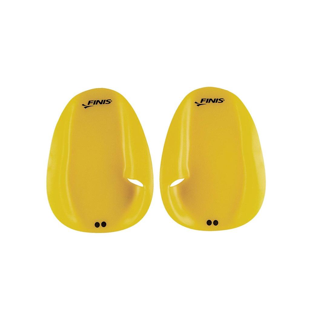 FINIS wiosełka na dłonie do pływania żółte