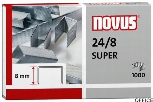 Zszywki NOVUS 24/8 S 1000szt. 040-0038