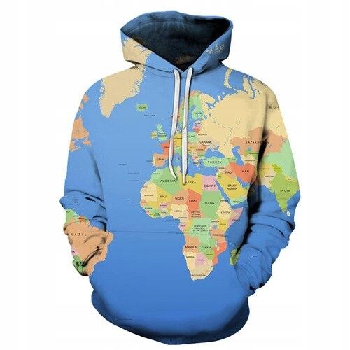 Bluza z Nadrukiem Geografia Prezent 2020 6XL