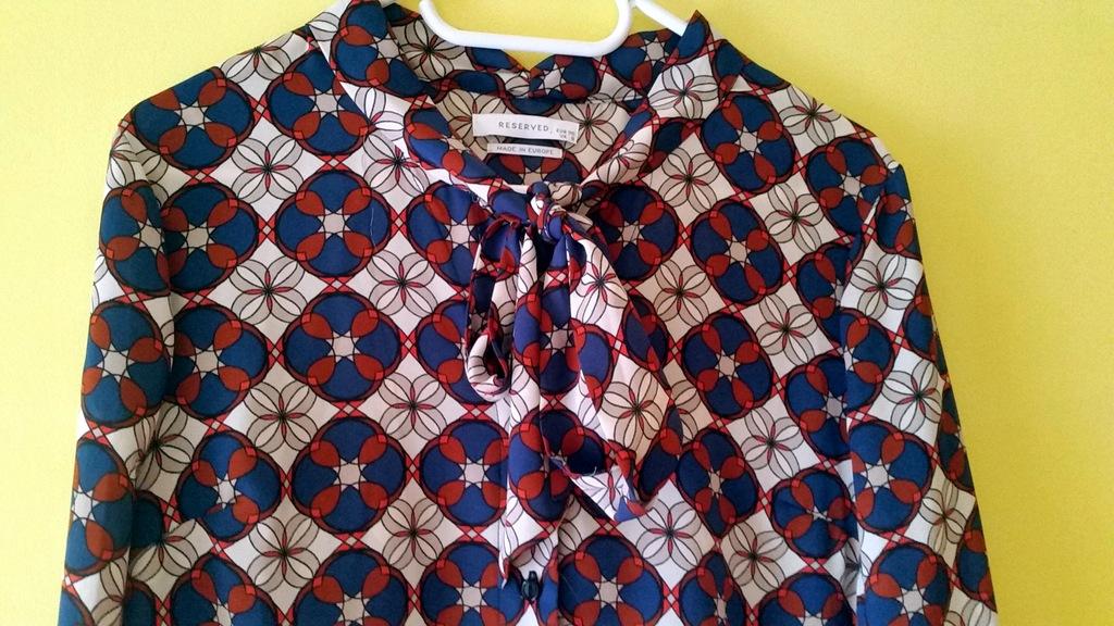 Nowa koszula Reserved modna wiązana pod szyją rozS