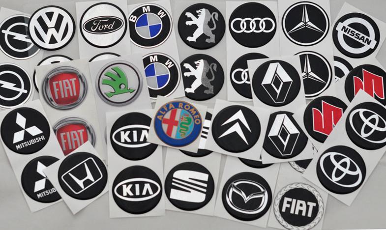 Emblemat znaczek na felgi kolpaki naklejka VW 55mm