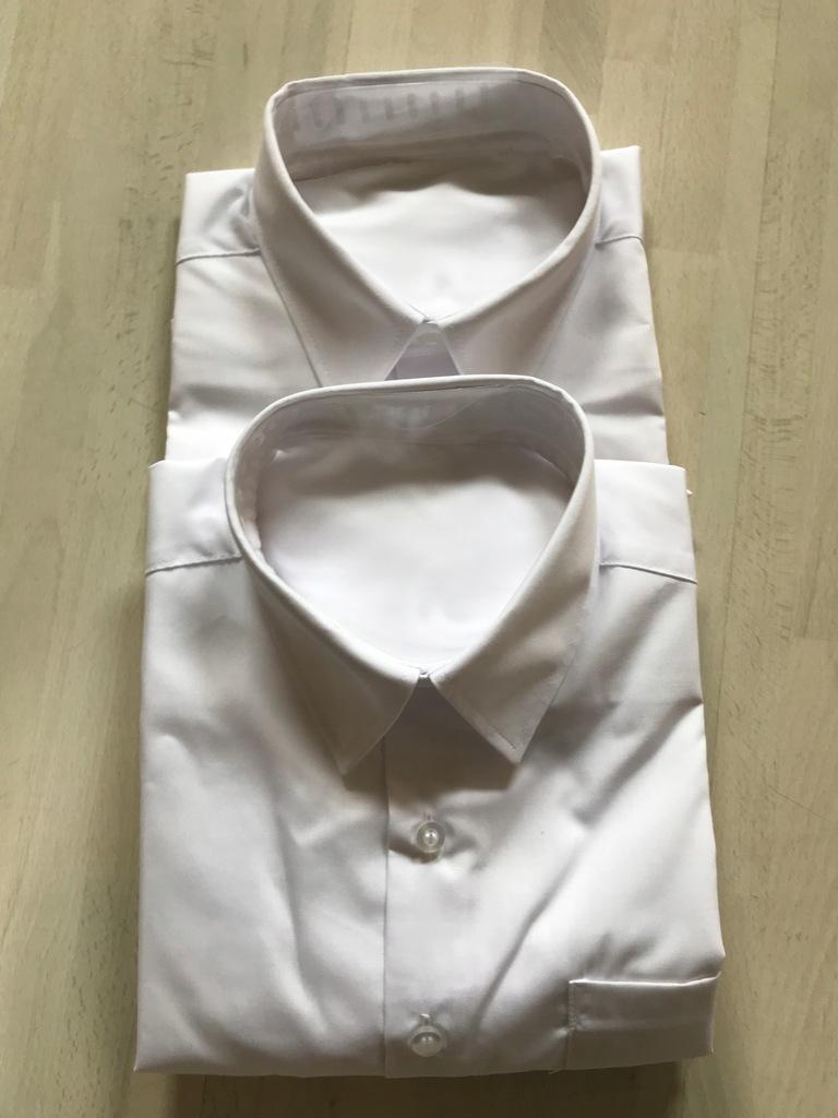 dwie nowe białe koszule non-iron 14-15 lat