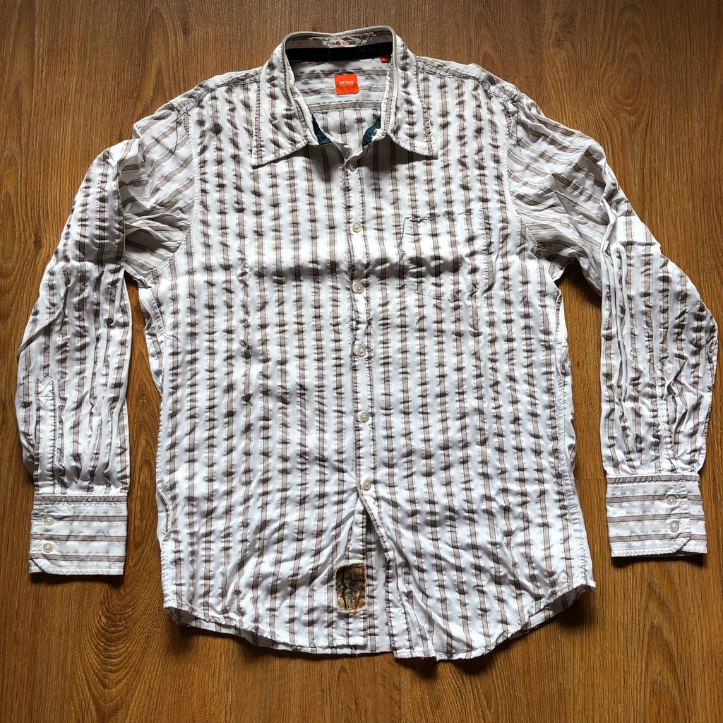 Koszula HUGO BOSS Orange HANDCRAFTED gnieciona XL