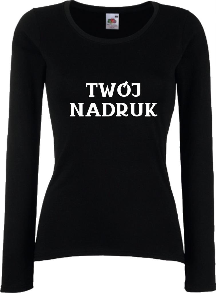 Koszulka Damska Długi Rękaw TWÓJ NADRUK r L