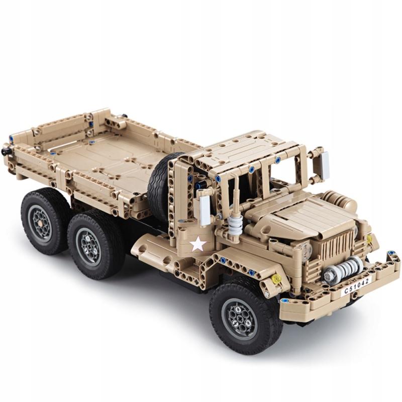 Ciężarówka wojskowa RC klocki CADA 6 kół