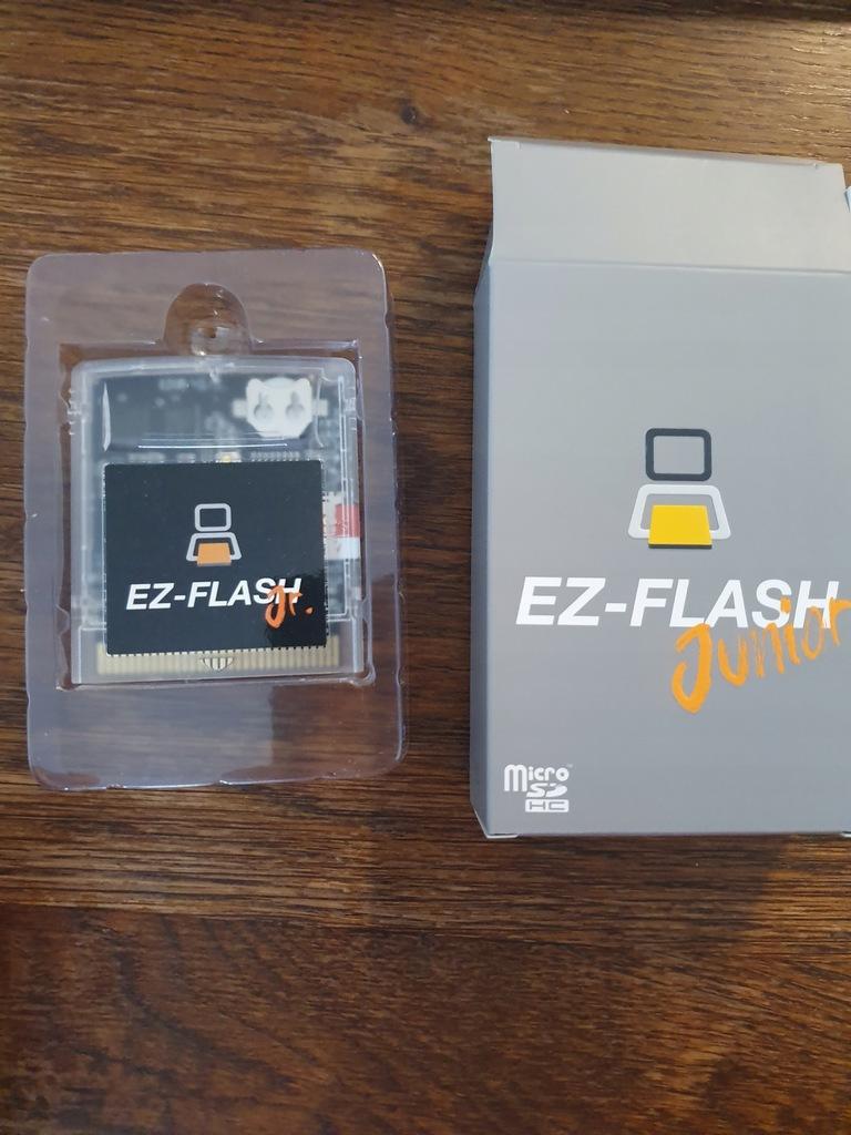 EZ FLASH JUNIOR GAMEBOY FLASHCARD z ZEGAREM/RTC