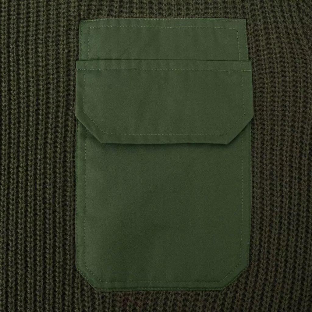 Sweter męski do pracy, ciemnozielony, rozmiar M