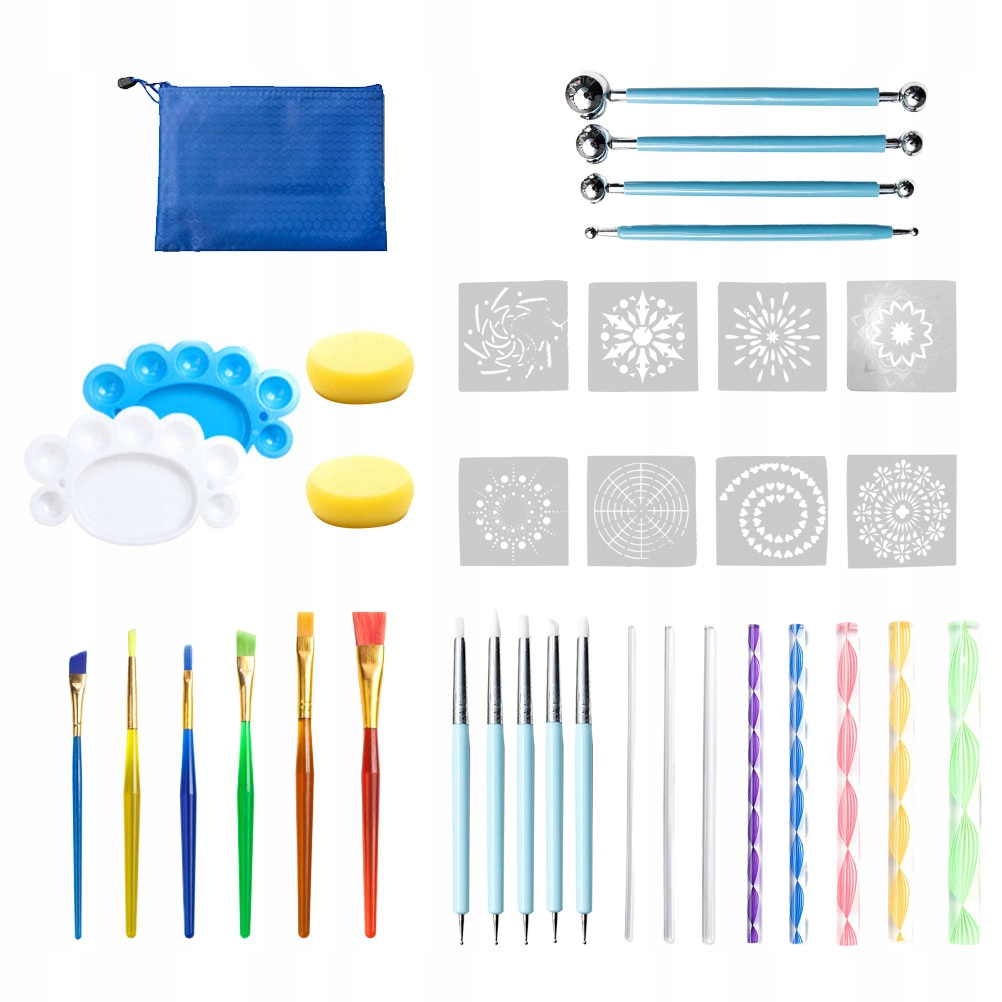 1 zestaw 36 sztuk zestaw narzędzi rozsianych manda