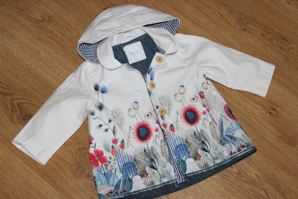 Wiosenny płaszczyk _ NEXT _ 12-18m _ 86 cm _Kwiaty