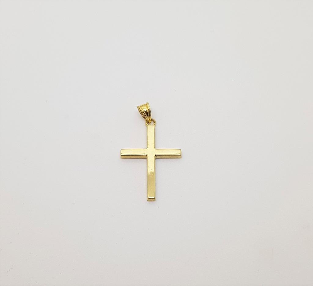 Klasyczny krzyżyk złoto 585