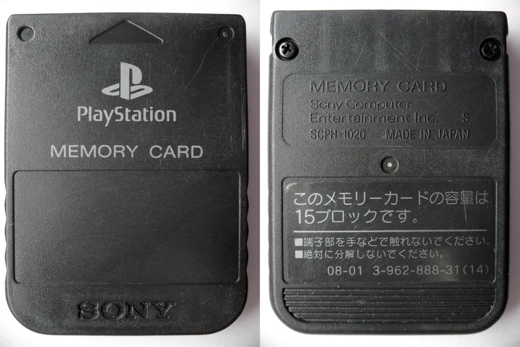 Karta Pamięci Sony Oryginalna Japan PSX PS1 PSone