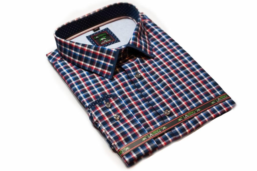 koszula meska w krate na lato kratka kolorowa zielono czerwona