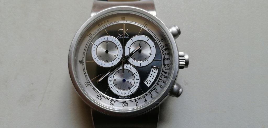 CALVIN KLEIN - chronograf zegarek - swiss made