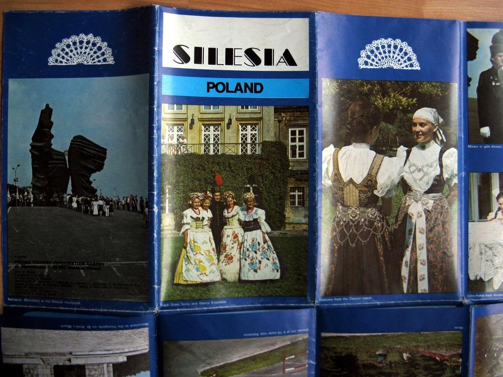 Stary plan informator turystyczny Śląsk 199x ang.2