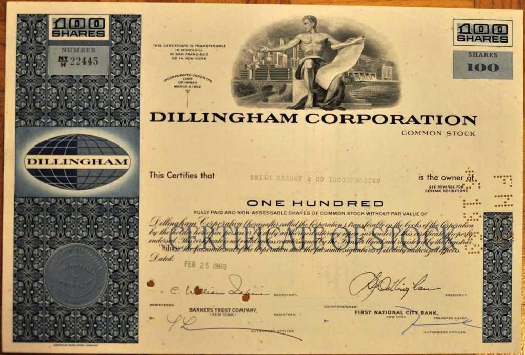 Dillingham Corporation - 1969 r.