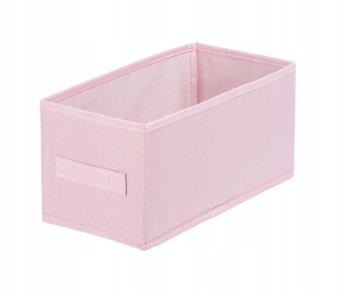 Pudełko tekstylne ANABEL 15x31x15cm jasny róż 7l s