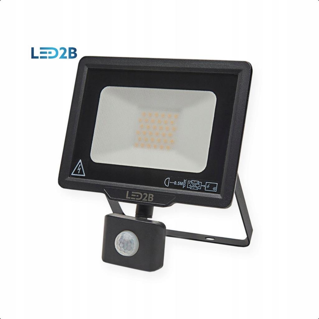 Naświetlacz LED MHC czujnik ruchu 30W Czarny 6000K