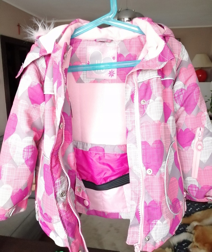 Kurtka zimowa dla dziewczynki 116