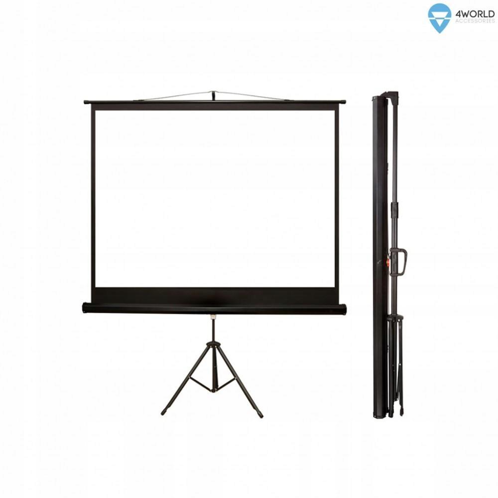 4world Ekran projekcyjny ze statywem 145x110 (72''
