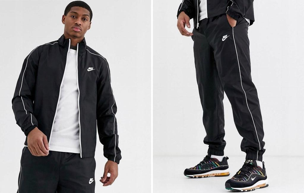 U001G05 Nike KOMPLET DRESOWY ORTALIONOWY CZARNY M