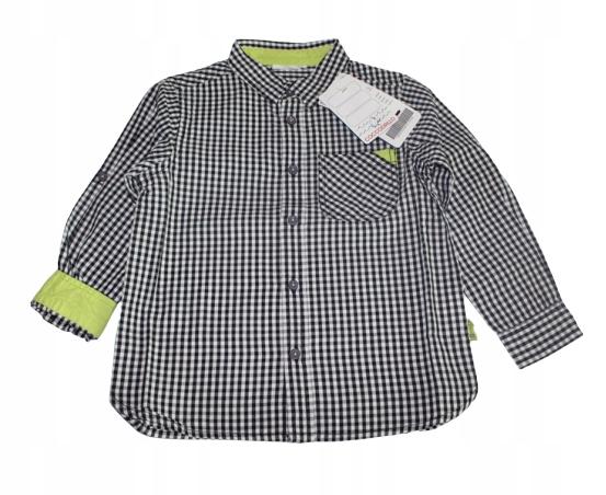 Coccodrillo Elegancka Koszula w Kratę Limonka 104