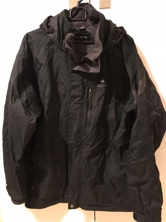 Alpinus, czarna męska kurtka przejściowa, rozm L
