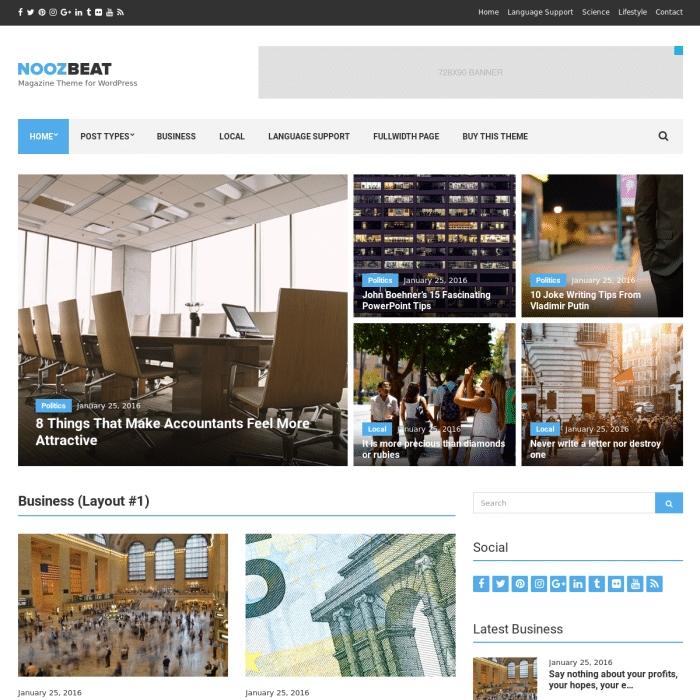 Szablon Noozbeat Magazine WordPress Theme