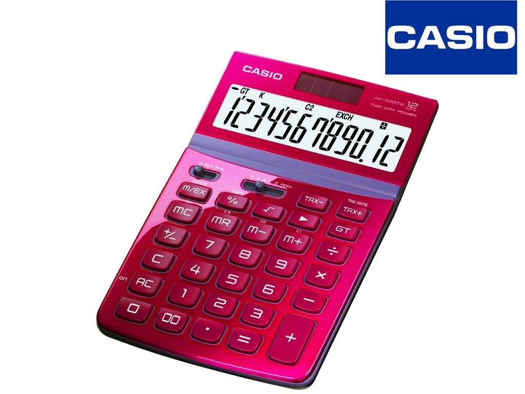 Kalkulator Casio JW-200TW-RD Nowy F-Vat 23% Piękny