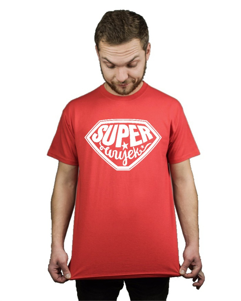 Koszulka męska SUPER WUJEK PREZENT M