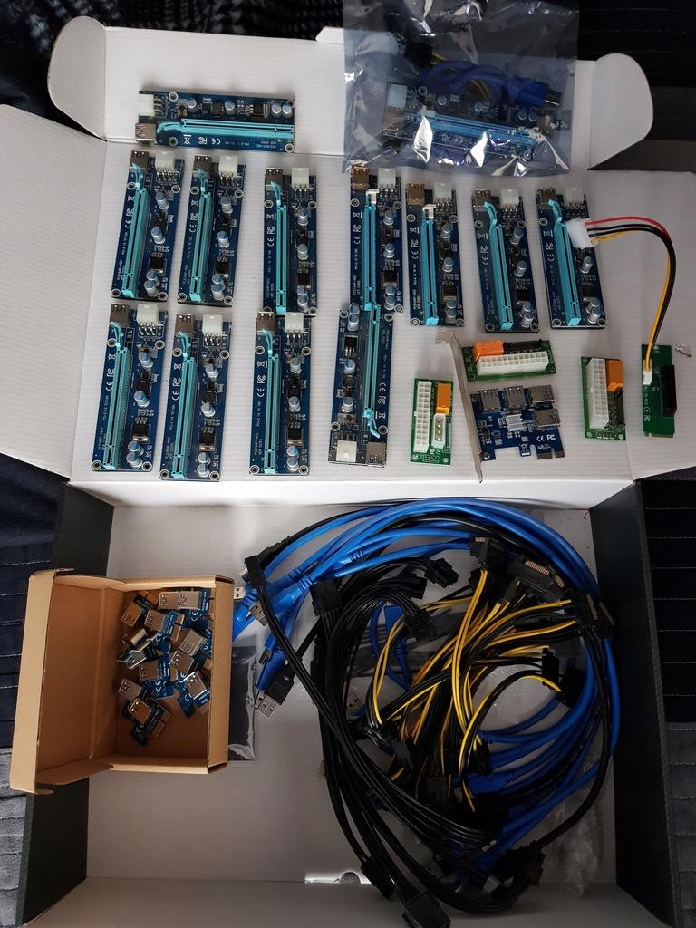 13x Riser 009s / PCI-E na 4x USB 3.0 / DUŻO CZĘŚĆI