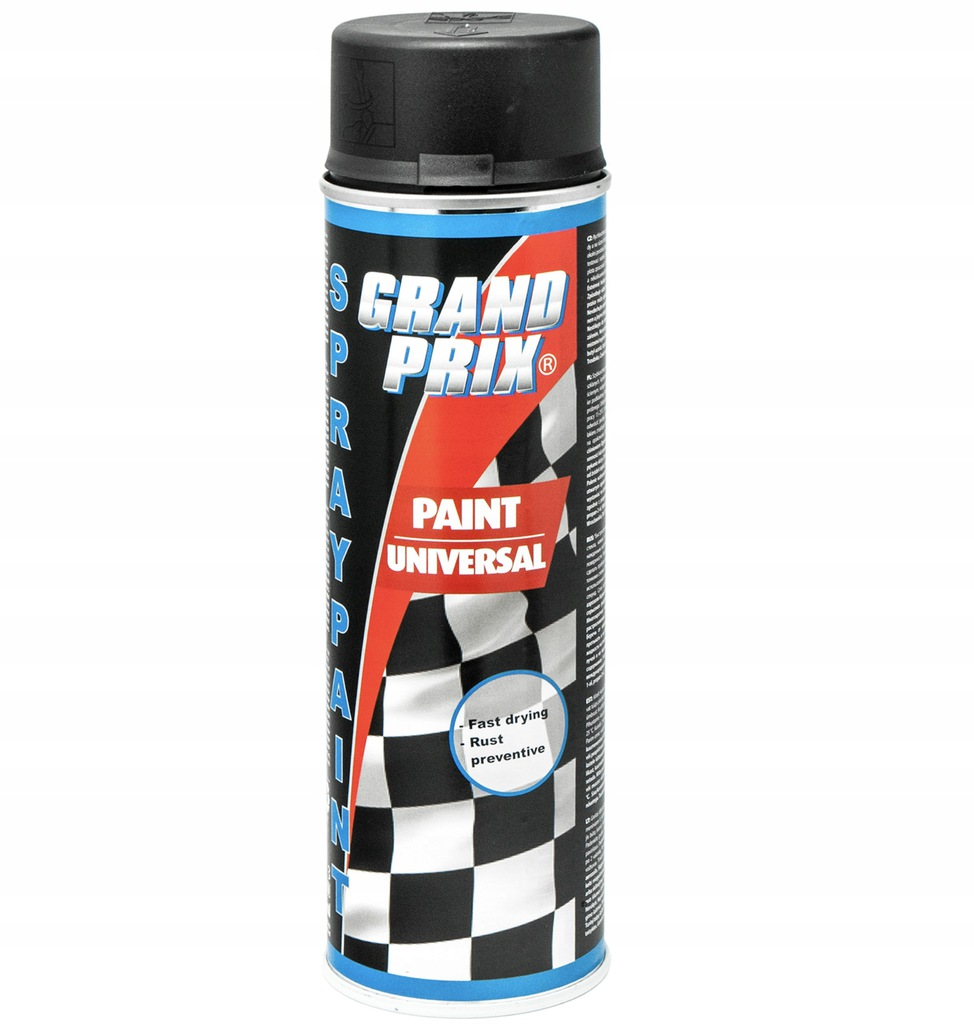 Lakier akrylowy 500ml GRAND PRIX czarny mat
