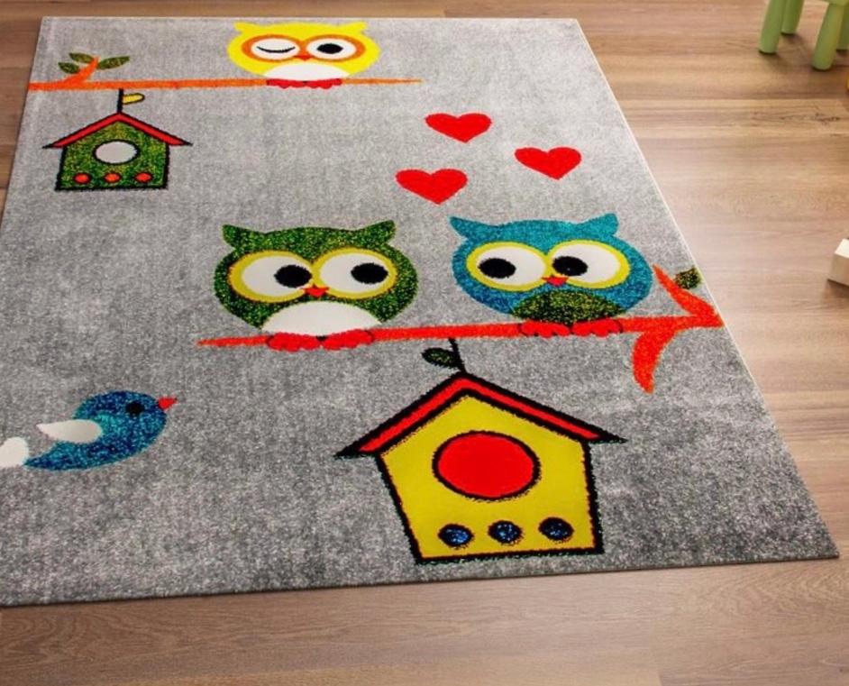 dywan do dziecięcego pokoju - Sowy