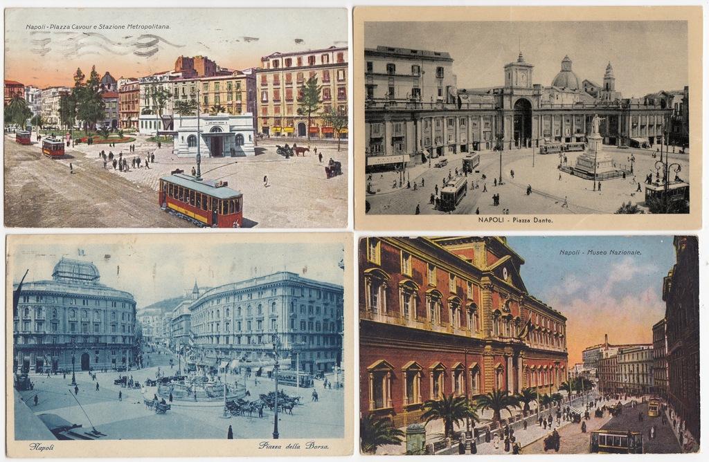 Stare pocztówki Włochy Napoli Neapol (4 szt.) 4Y28