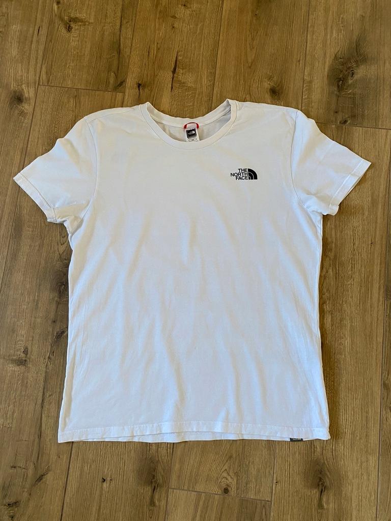 The North Face biała koszulka r.L BDB