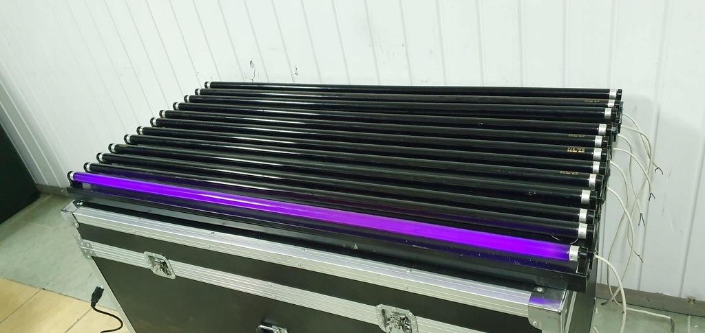 Zestaw 12 lamp ze świetlówkami UV wyprzedaż okazja