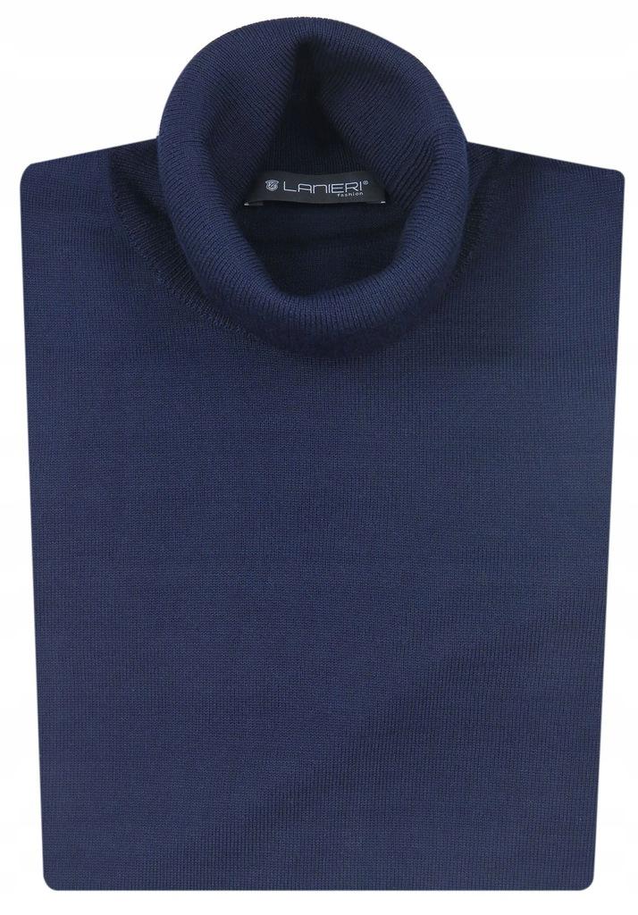 Granatowy sweter golf męski Lanieri SW9 XXXL