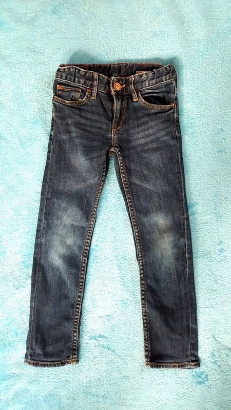 Jeansy przecierane H&M roz. 110 regulowany pas
