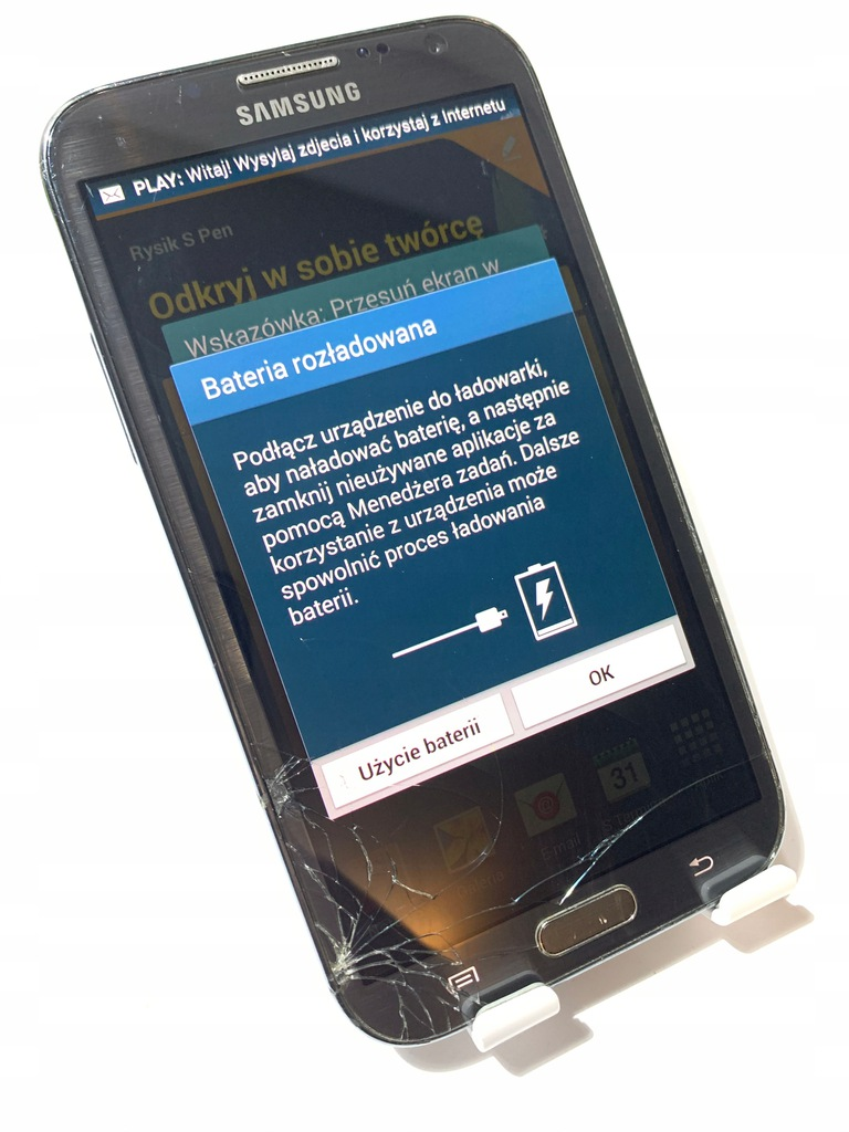 Smartfon Samsung GALAXY NOTE 2 16GB N7100 K376