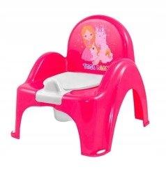 nocnik krzesełko z pozytywką Księżniczka różowy