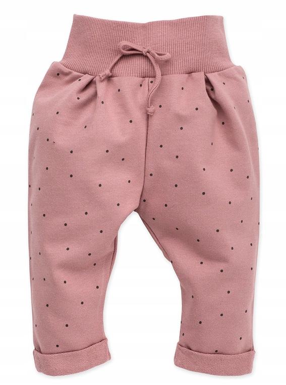 Pinokio Spodnie bawełniane wygodne Petit Lou 68