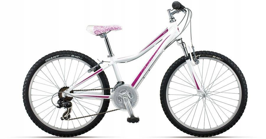 """Rower dla dziewczynki 24"""" Giant Areva DODATKI"""