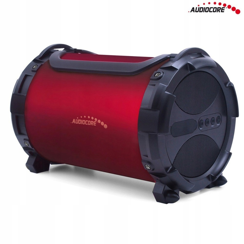 Głośnik bazooka AC880 bluetooth microSD bordo
