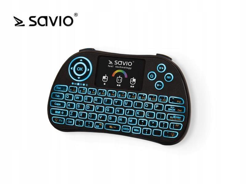 SAVIO Klawiatura bezprzewodowa RGB Savio KW 03 do TV Box